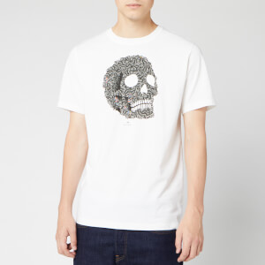 PS Paul Smith Men's Zebra/Skull T-Shirt - White