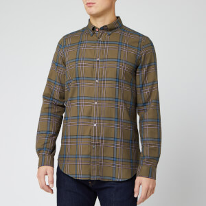 PS Paul Smith Men's Brushed Cotton Check Shirt - Green