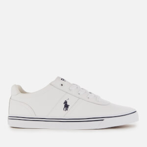 Polo Ralph Lauren Men's Hanford Leather Low Top Trainers - Pure White