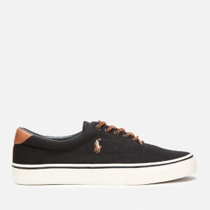 Polo Ralph Lauren Men's Thorton Canvas Low Top Trainers - Black