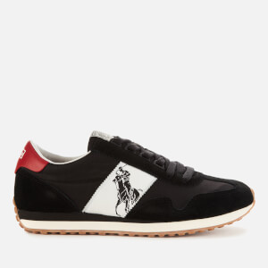 Polo Ralph Lauren Men's Train 90 Polo Player Runner Style Trainers - Black/Red Tab