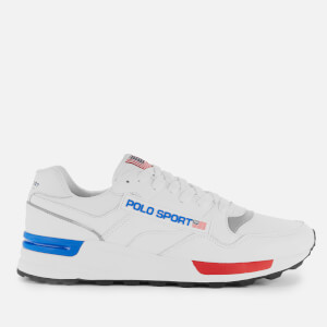 Polo Sport Ralph Lauren Men's Trackstar 100 Runner Style Trainers - White