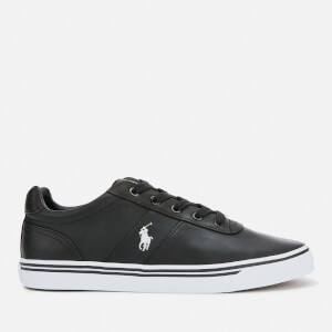 Polo Ralph Lauren Men's Hanford Leather Trainers - Black
