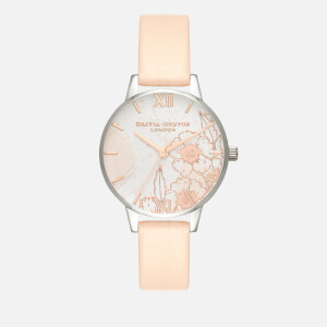 Olivia Burton Women's Abstract Florals Watch - Nude Peach, Rose Gold and Silver