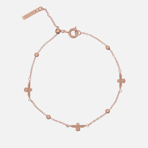 Olivia Burton Women's 3D Bee and Ball Chain Bracelet - Rose Gold