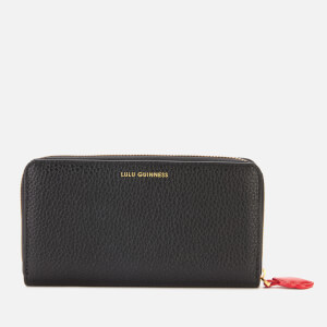 Lulu Guinness Women's Cupids Bow Continental Wallet - Black