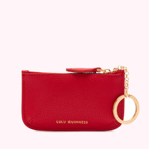 Lulu Guinness Women's Cupids Bow Frankie Key Pouch - Classic Red