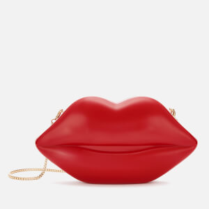Lulu Guinness Women's Medium Lips Clutch Bag - Classic Red