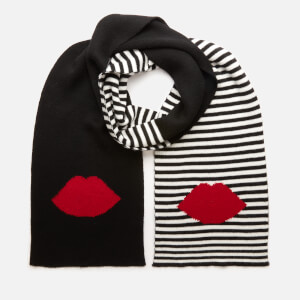 Lulu Guinness Women's 50:50 Lip Stripe Scarf - Multi