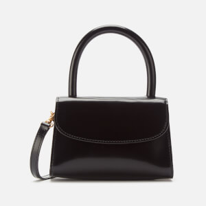 by FAR Women's Mini Semi Patent Leather Tote Bag - Black