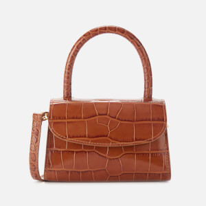 by FAR Women's Mini Croco Embossed Leather Tote Bag - Tan