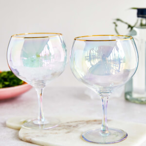 Rainbow Gin Balloon Glasses (Set of 2)