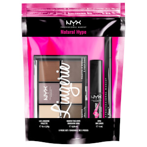 NYX Professional Makeup Natural Hype Eyeshadow, Eyeliner and Mascara Gift Set