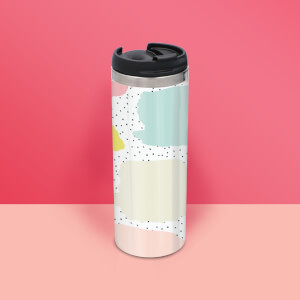 Vibrant Dot Pattern Stainless Steel Travel Mug