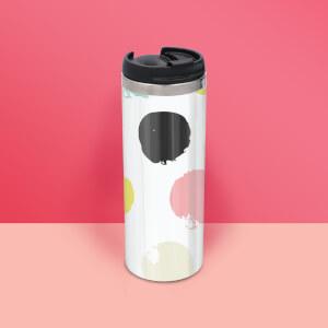 Bold Dot Pattern Stainless Steel Travel Mug