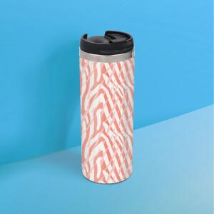 Zebra Pattern Stainless Steel Travel Mug