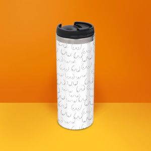 Boobies Stainless Steel Travel Mug - Metallic Finish