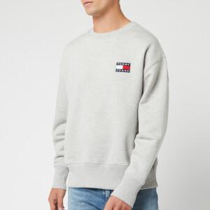 Tommy Jeans Men's Badge Crew Sweatshirt - Light Grey Heather
