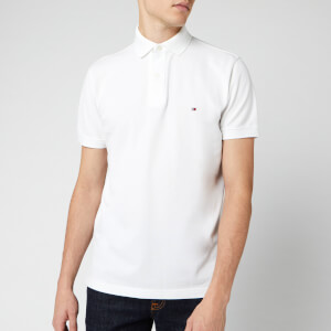 Tommy Hilfiger Men's Placket Polo Shirt - Bright White