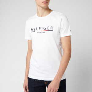 Tommy Hilfiger Men's Corporate Underline T-Shirt - Bright White