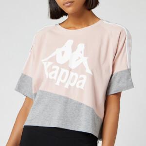 Kappa Women's Banda Balimnos Cropped T-Shirt - Pink/Grey