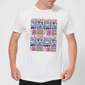 90's Product Tiled Pattern Men's T-Shirt - White