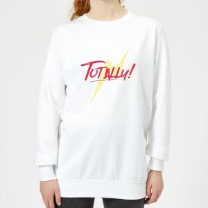 Lightning Bolt Totally! Women's Sweatshirt - White