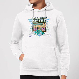 Product Of The 90's Boom Box Hoodie - White