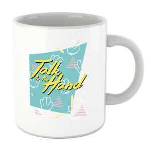 Talk To The Hand Square Patterned Background Mug