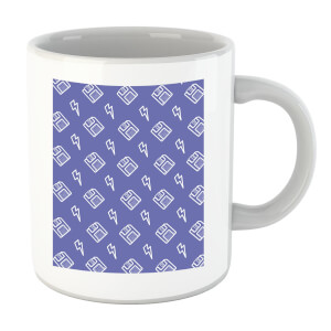 Floppy Disc Pattern Purple Mug