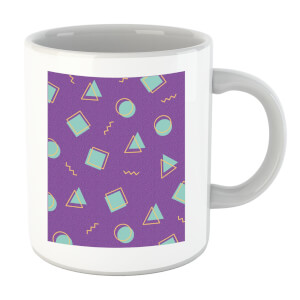 90's Circle Square Triangle Pattern Mug
