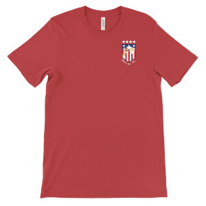 'That's the Tea' USA World Cup Pocket Badge T-Shirt - Red