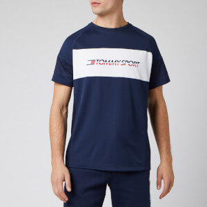 Tommy Sport Men's Performance Mesh Short Sleeve T-Shirt - Sport Navy