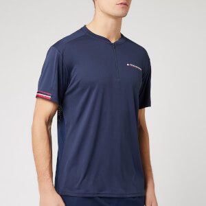 Tommy Sport Men's 1/2 Zip Mesh T-Shirt - Sport Navy
