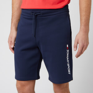 Tommy Sport Men's Fleece Logo Shorts - Sport Navy