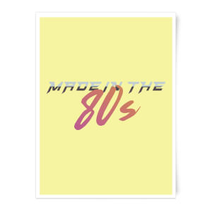 Made In The 80s Gradient Art Print