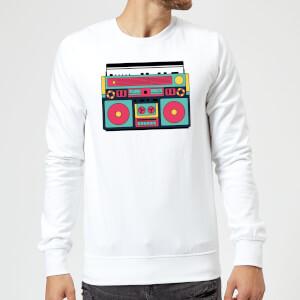 Colourful Boombox Sweatshirt - White