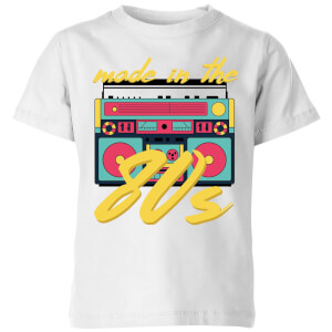 Made In The 80s Boombox Kids' T-Shirt - White