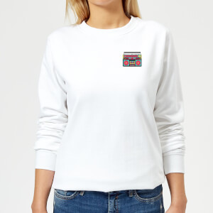 Small Boombox Women's Sweatshirt - White
