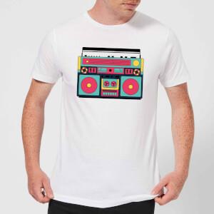 Colourful Boombox Men's T-Shirt - White