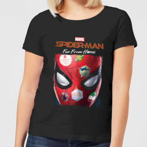 Spider-Man Far From Home Stickers Mask Women's T-Shirt - Black