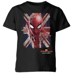 Spider-Man: Far From Home Britse Vlag kinder t-shirt - Zwart