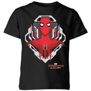 Spider-Man Far From Home Web Tech Badge Kids' T-Shirt - Black