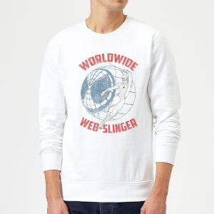 Spider-Man Far From Home Worldwide Web Slinger Sweatshirt - White