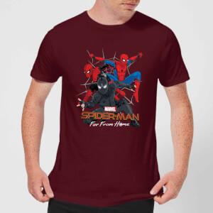 Spider-Man Far From Home Multi Costume Men's T-Shirt - Burgundy
