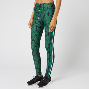 The Upside Women's Palm Leaf Yoga Pants - Navy/Green