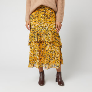 Whistles Women's Ikat Animal Nora Skirt - Yellow/Multi