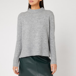 Whistles Women's Ribbed Neck Knit Jumper - Grey