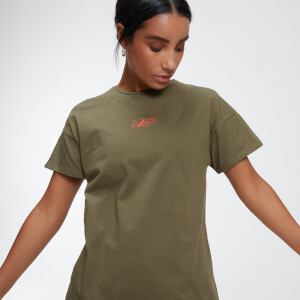 Power Oversized T-Shirt - Avocado