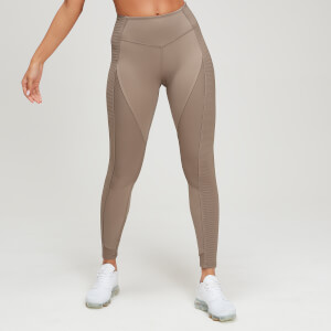 Dames MP Textured Trainingsleggings - Praline